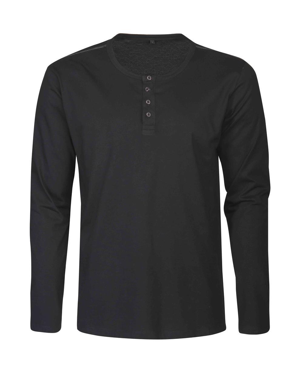 Мужская футболка  с длинным рукавом Stoneton от ТМ James Harvest (цвет черный)