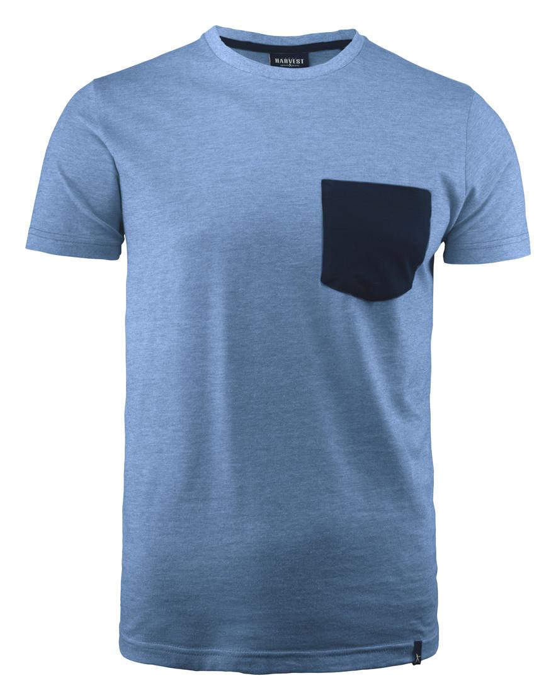 Мужская футболка Portwillow от ТМ James Harvest (цвет синий)