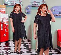 Платье женское нарядное красивое летнее кружево большого размера 50-56 Турция, 2 цвета