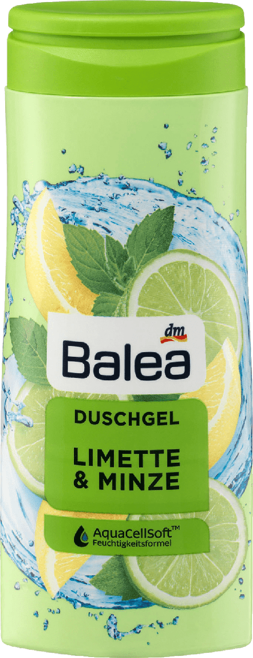 Гель для душа Balea Limette & Minze, 300 мл.