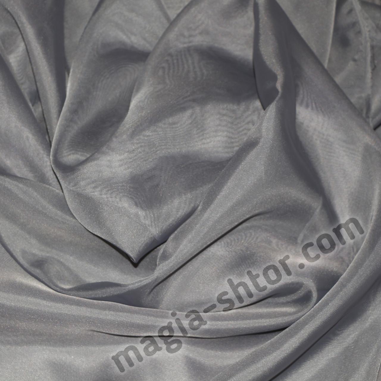 Тюль шифон темно-серый