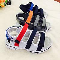 Детские сандалии на липучках для мальчиков оптом Размеры 31-36 микс, фото 1