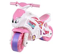 Толокар мотоцикл для девочек.Игрушка толокар каталка розовая.Детский мотоцикл.