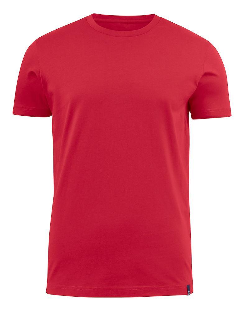 Мужская футболка с U-образным вырезом American U от ТМ James Harvest (цвет красный)