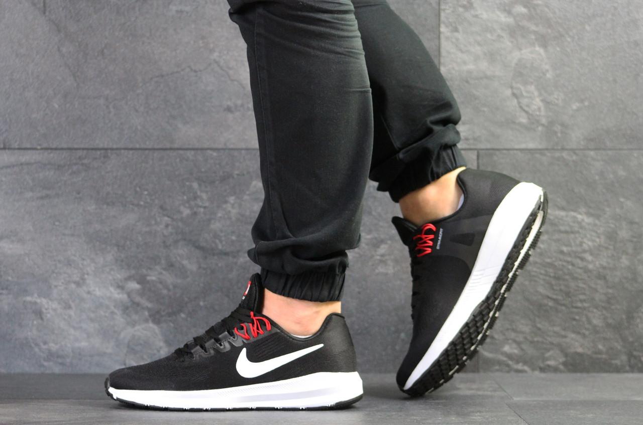 Летние мужские кроссовки Nike Air Zoom Structure 21,черно-белые