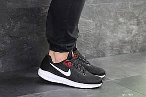 Летние мужские кроссовки Nike Air Zoom Structure 21,черно-белые, фото 3