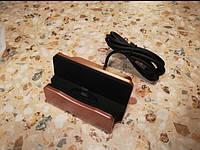 Зарядная док станция для смартфонов Micro-USB Черная Золото