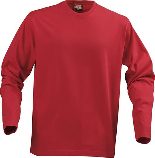 Мужская  футболка с длинным рукавом Heavy Long Sleeve от ТМ Printer Essentials (цвет красный)