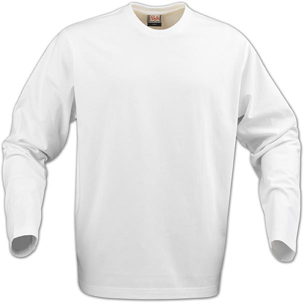 Мужская  футболка с длинным рукавом Heavy Long Sleeve от ТМ Printer Essentials (цвет белый)