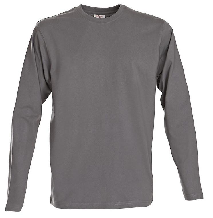 Мужская  футболка с длинным рукавом Heavy Long Sleeve от ТМ Printer Essentials (цвет серо-стальной)