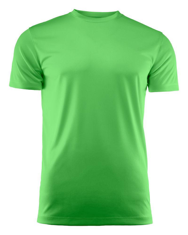 Мужская футболка Run T-Shirt от ТМ Printer Red Flag (цвет лайм)