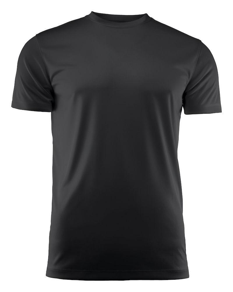 Мужская футболка Run T-Shirt от ТМ Printer Red Flag (цвет черный)