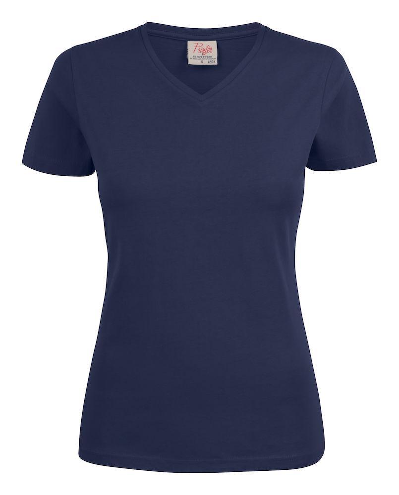 Женская футболка Heavy V Lady от ТМ Printer Essentials (цвет темно-синий)