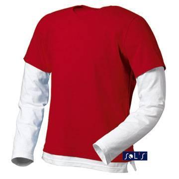 Футболка с длинным рукавом SOL'S MIX (цвет красный)