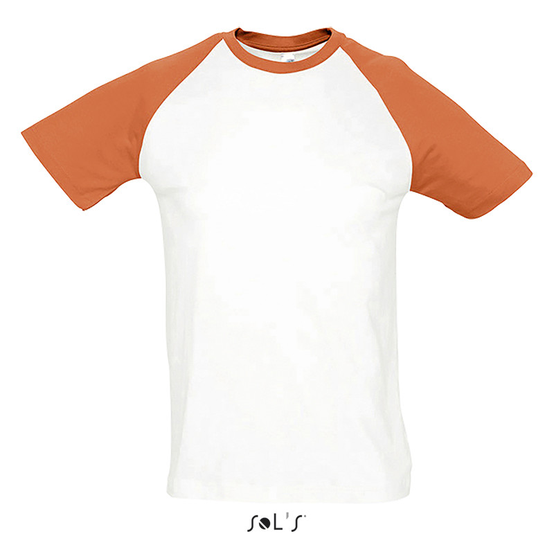 Футболка двухцветная SOL'S FUNKY (цвет белый/оранжевый)