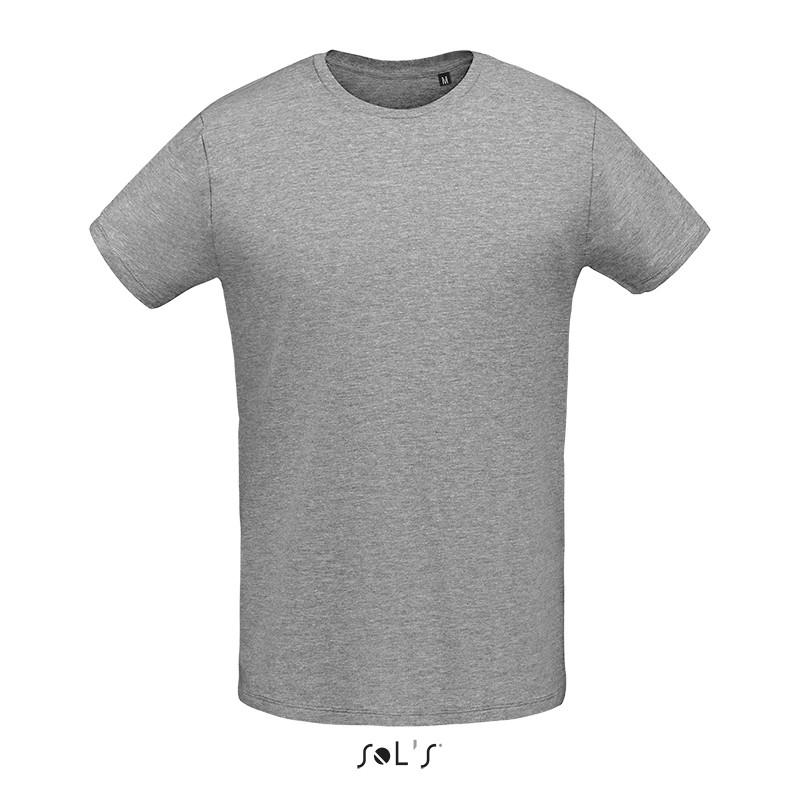Мужская облегающая футболка из джерси с круглым вырезом SOL'S MARTIN MEN (цвет серый меланж)