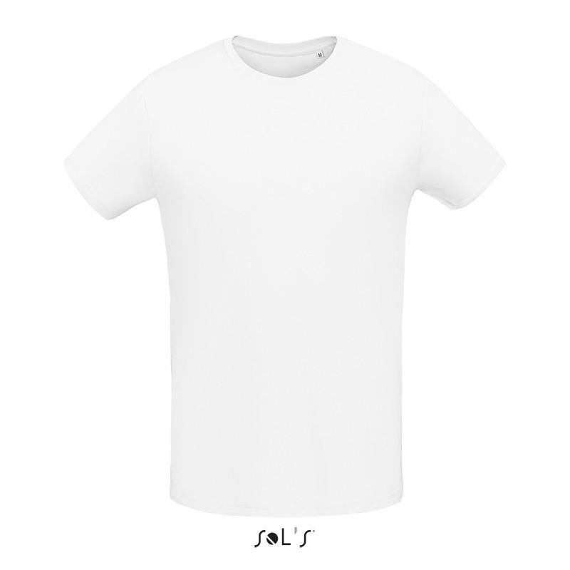 Мужская облегающая футболка из джерси с круглым вырезом SOL'S MARTIN MEN (цвет белый)