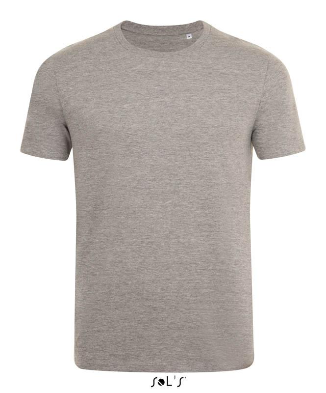 Мужская облегающая футболка с круглой горловиной SOL'S MARVIN (цвет серый-меланж)