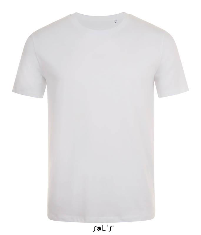 Мужская облегающая футболка с круглой горловиной SOL'S MARVIN (цвет белый)