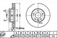 Диск тормозной задний d=294mm VW T5 1.9/2.5TDI 03- Ferodo DDF1286