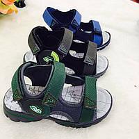 Детские сандалии на липучках для мальчиков оптом Размеры 26-31 микс, фото 1