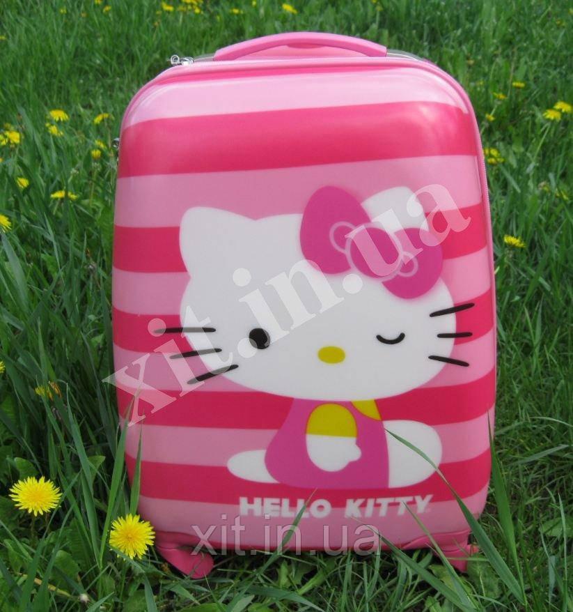 """Детский чемодан 16"""" на колесах Hello Kitty"""