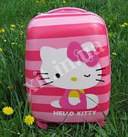 "Детский чемодан 16"" на колесах Hello Kitty, фото 1"