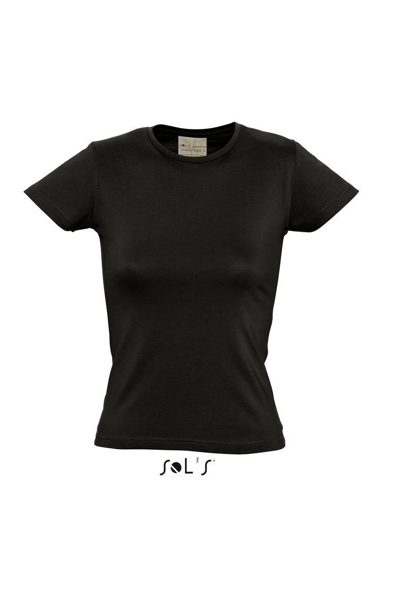Футболка SOL'S ORGANIC WOMEN (цвет черный-насыщенный)