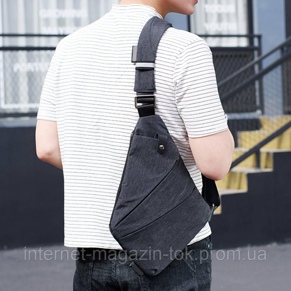5abe3716e636 ... Мужская сумка Cross Body / Сумка Мессенджер Fino(серый), Новинка, ...