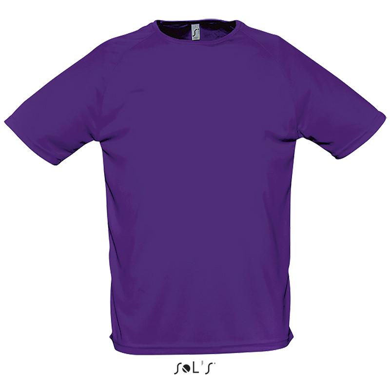 Футболка SOL'S SPORTY (цвет темно-фиолетовый)