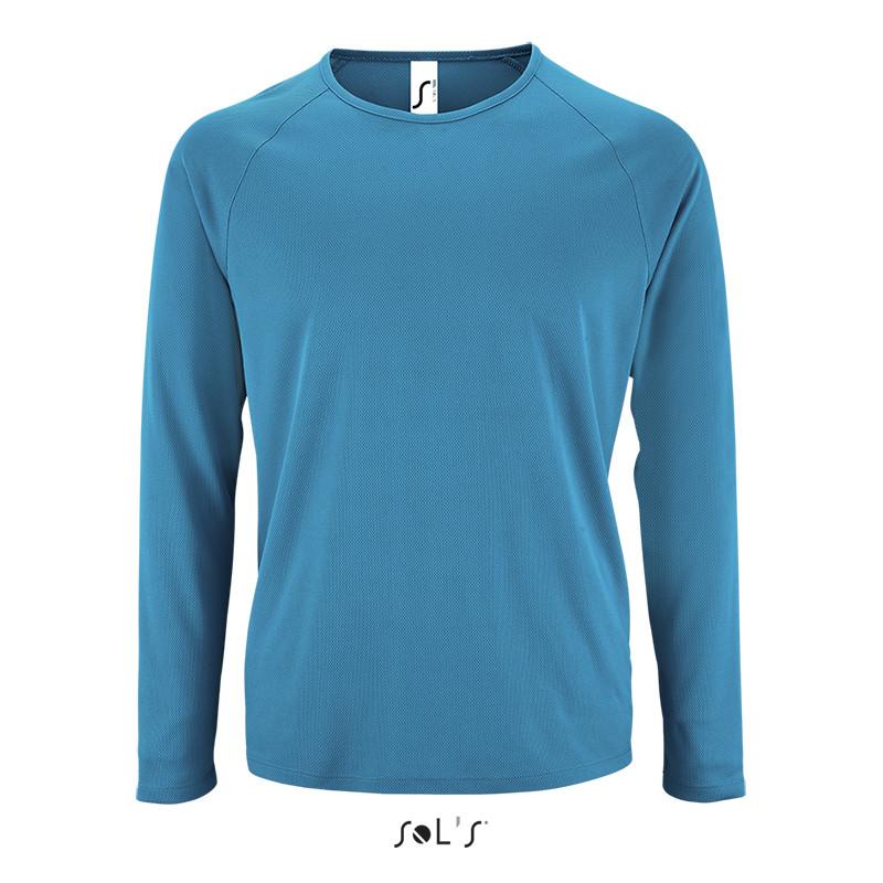 Мужская спортивная футболка с длинным рукавом SPORTY LSL MEN (цвет морской)