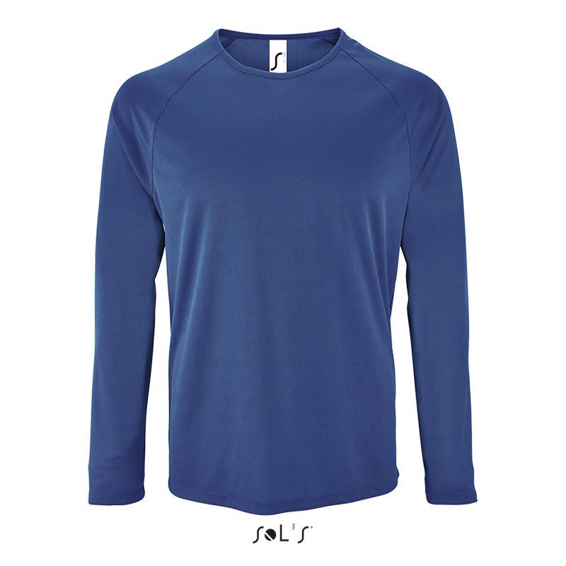 Мужская спортивная футболка с длинным рукавом SPORTY LSL MEN (цвет королевский синий)