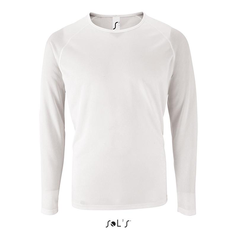 Мужская спортивная футболка с длинным рукавом SPORTY LSL MEN (цвет белый)