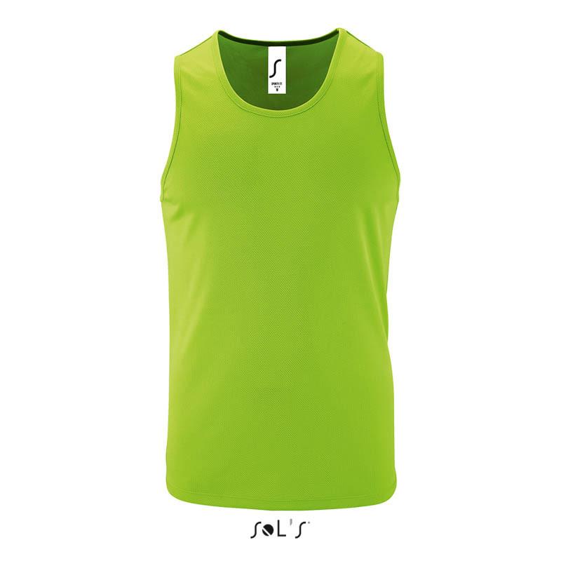 Мужская спортивная майка SPORTY TT MEN (цвет неоновый зеленый)
