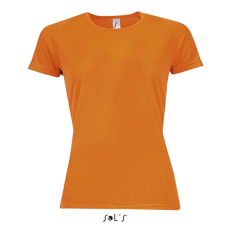 Футболка SOL'S SPORTY WOMEN (цвет неон оранжевый)