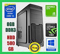 Игровой компьютер бу ПК , процессор intel Core i5 3470 4 ядра 3.2GHz , ОЗУ 8GB DDR3 , видеокарта GTX 1060 3Gb