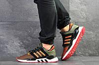 Кроссовки мужские темно зеленые Adidas Equipment 91/18, мужские весенние кроссовки (Реплика)