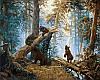 Набор-раскраска по номерам Утро в сосновом бору худ Шишкин Иван
