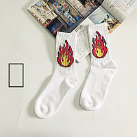 Носки More Than Dope - высокие - Пламя - белые