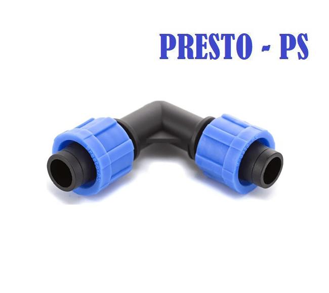 Угол для капельной ленты  Presto-PS