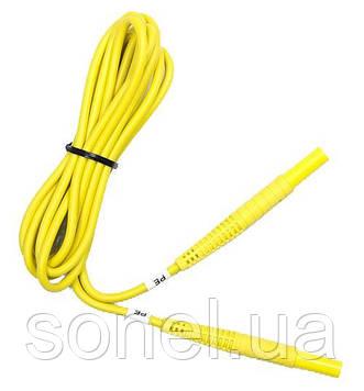 Провід вимірювальний 2,2 м з роз'ємами «банан» жовтий