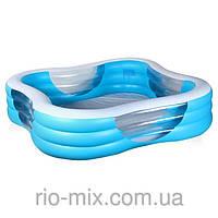 Детский надувной бассейн с окошками Intex 57495 (229 х 229 х 56 см)