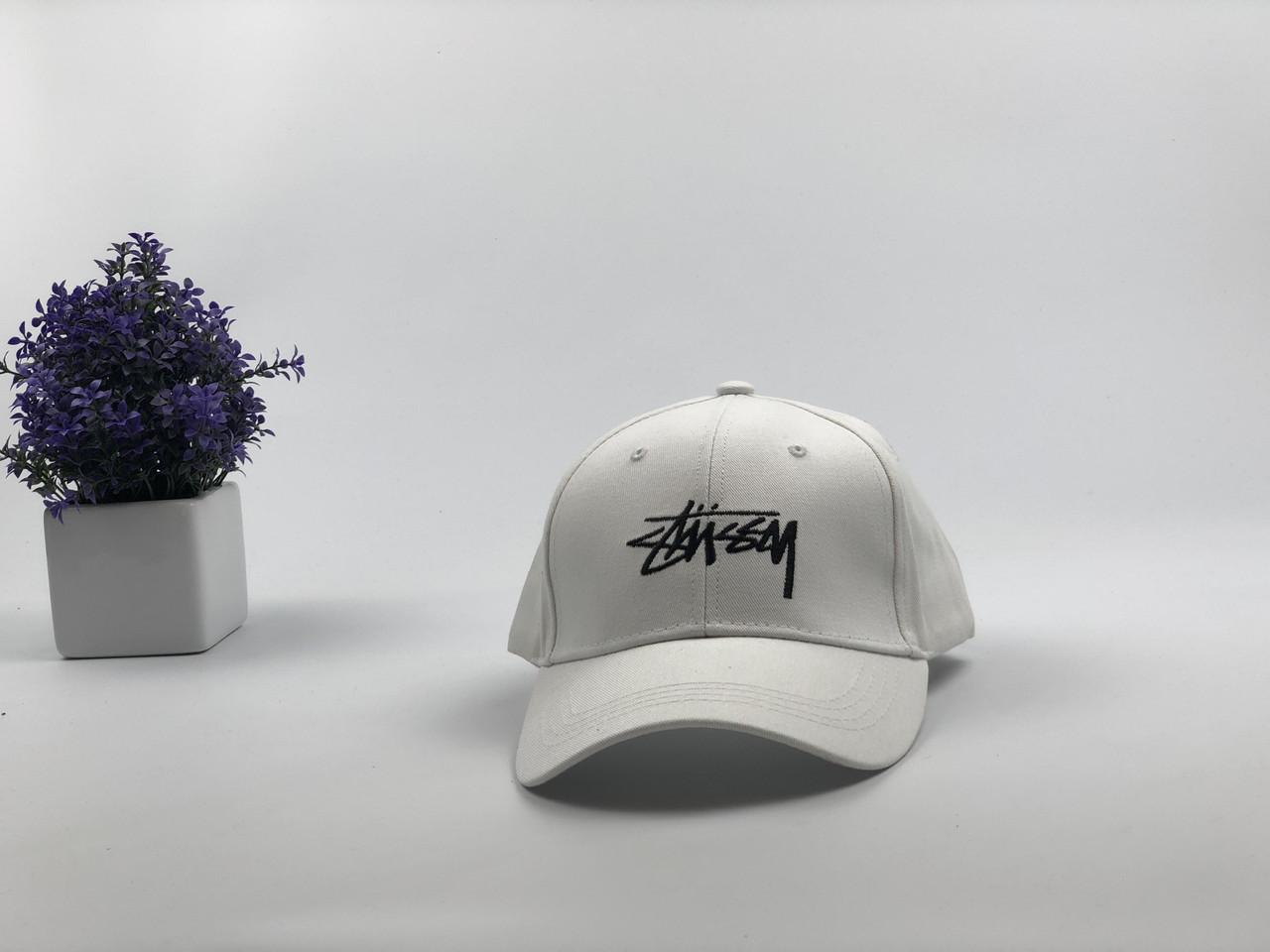 Кепка бейсболка Stussy (белая)