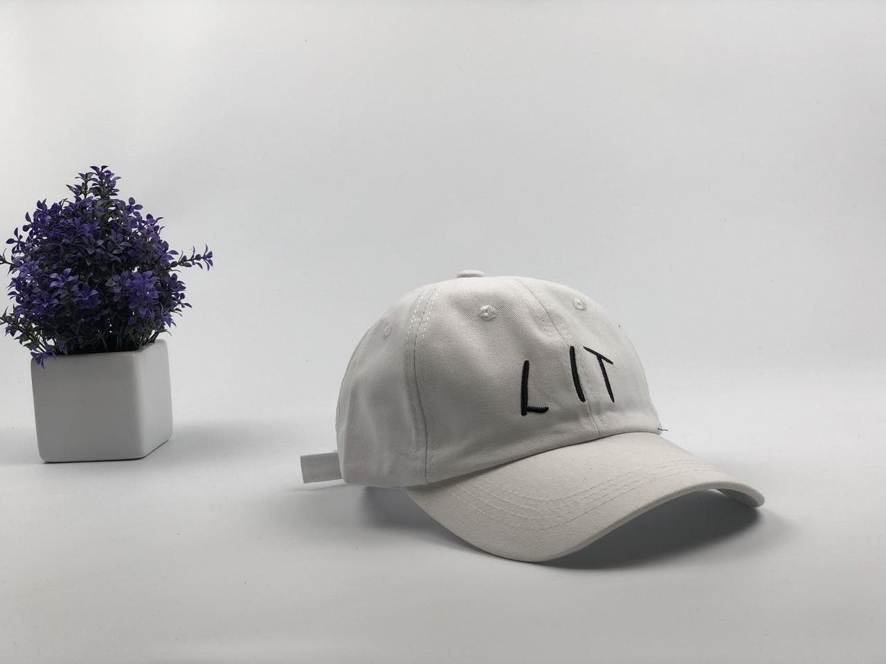 Кепка бейсболка LIT (белая)