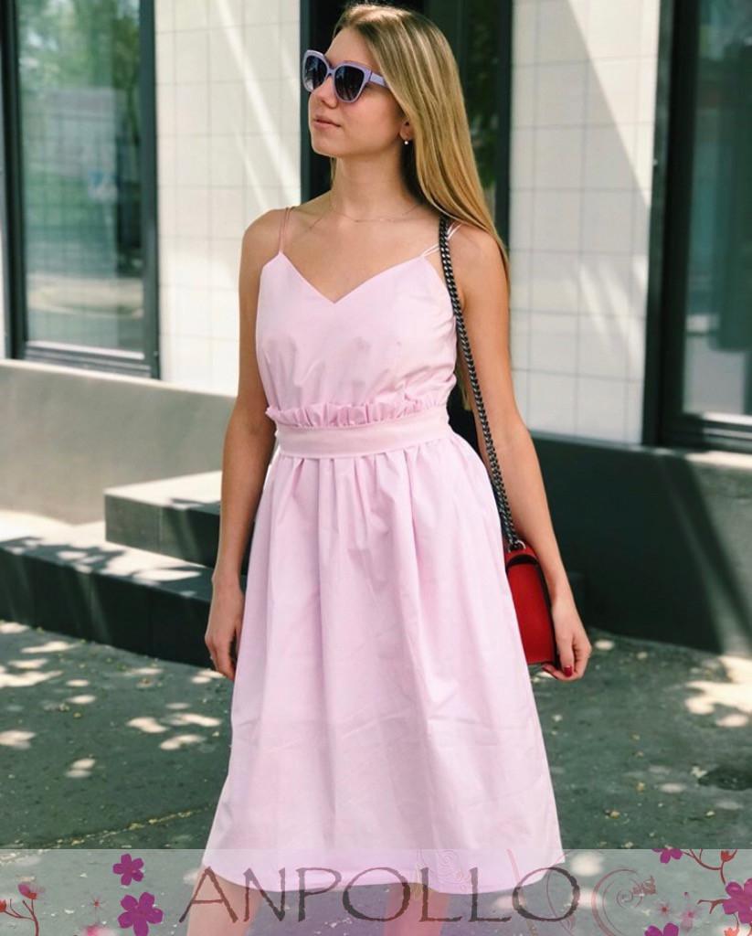 Женское нежное стильное  платье  мод.785