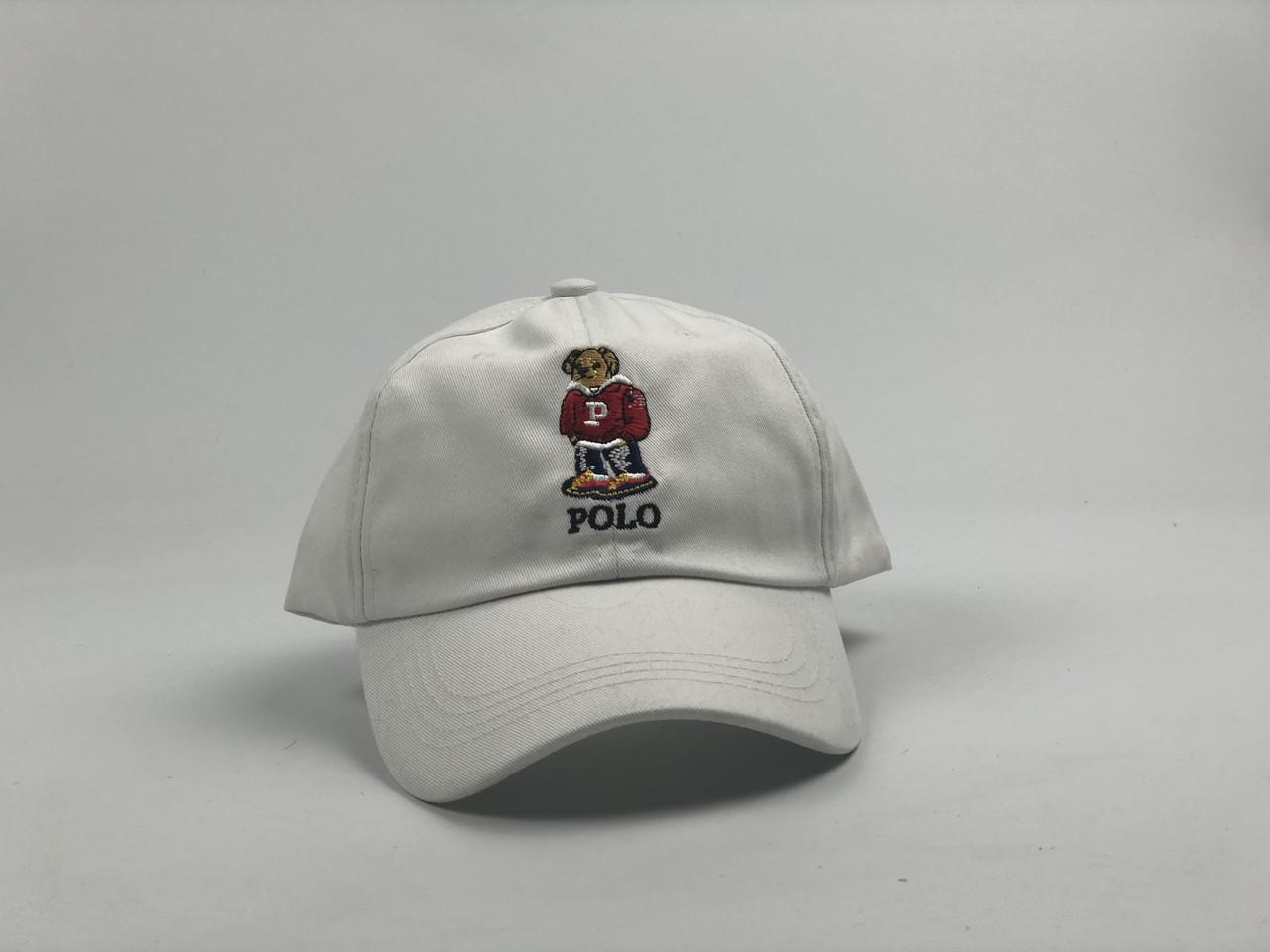 Кепка бейсболка Polo Ralph Lauren Bear (белая)