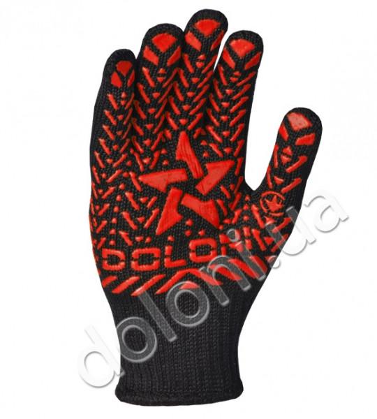 """Перчатки защитные """"Звезда"""" с ПВХ- рисунком из хлопка и полиэстера. DOLONI"""