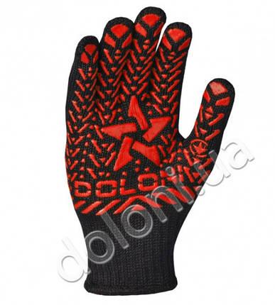 """Перчатки защитные """"Звезда"""" с ПВХ- рисунком из хлопка и полиэстера. DOLONI, фото 2"""