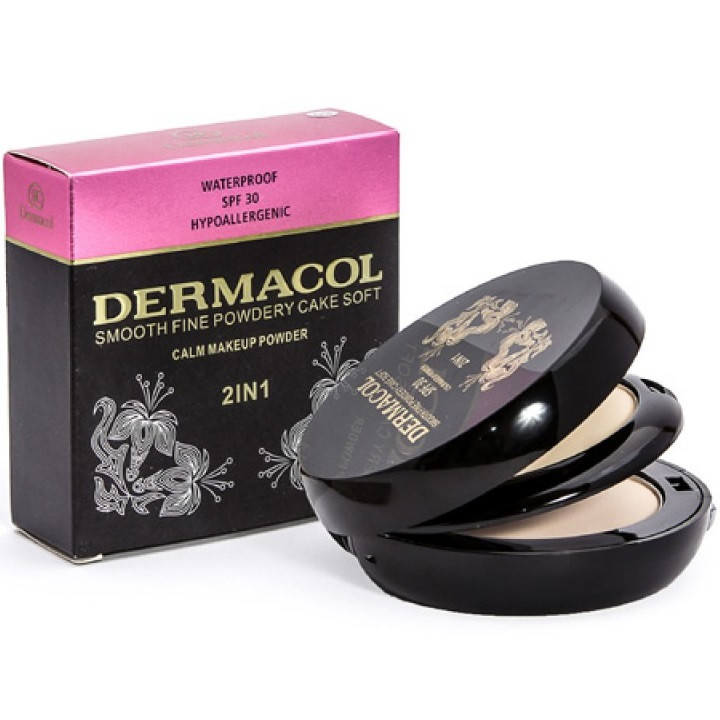 Пудра для лица Dermacol  2 in 1 Smooth Fine Powdery Cake Soft №2