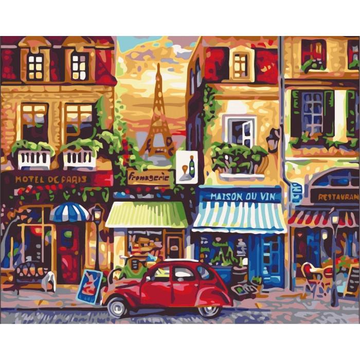 Картина по номерам Роспись на холсте Улицами Парижа КНО2189